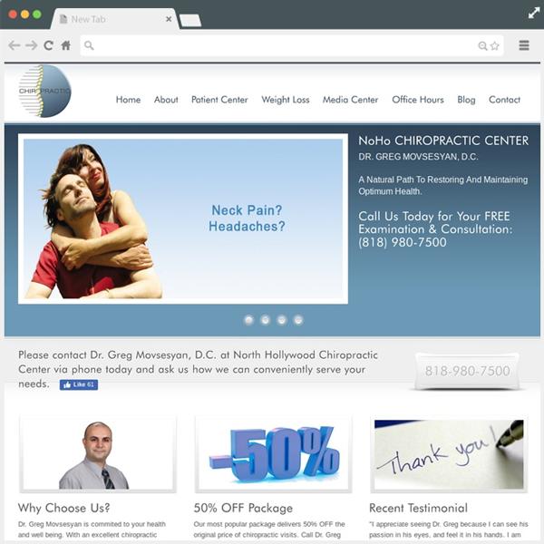 Chiropractic Website Designe