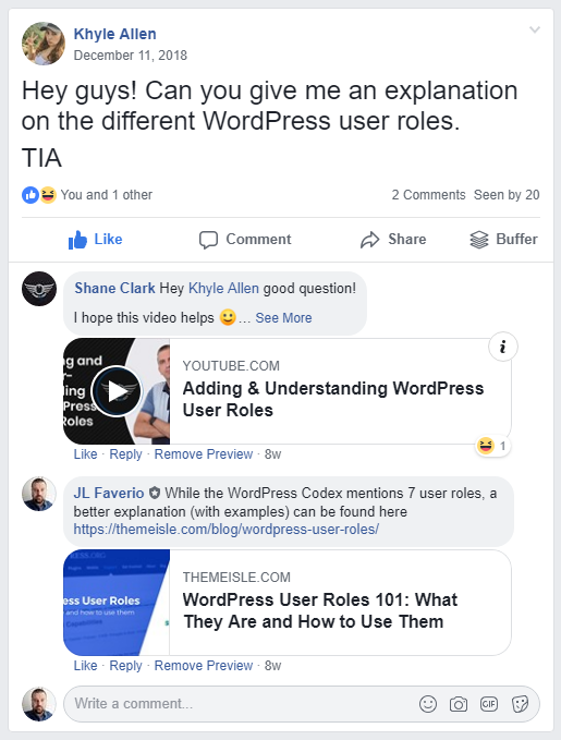 Get help with WordPress on Facebook