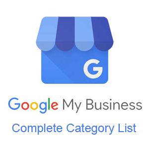 Complete list of Google My Business categories