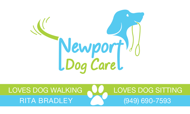 Business Card Design for Dog Walking Company