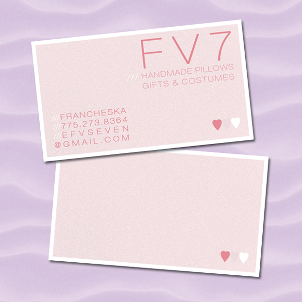 Soft Pink & White Business Card Design