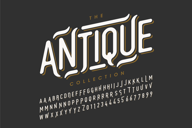 Antique Typography Font